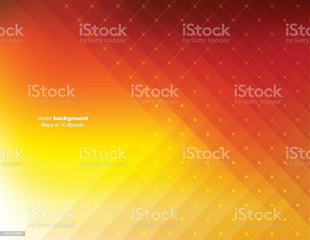 Orange color pixels background vector art illustration