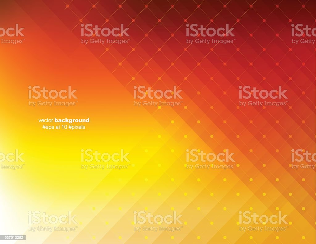 Orange color pixels background vector art illustration