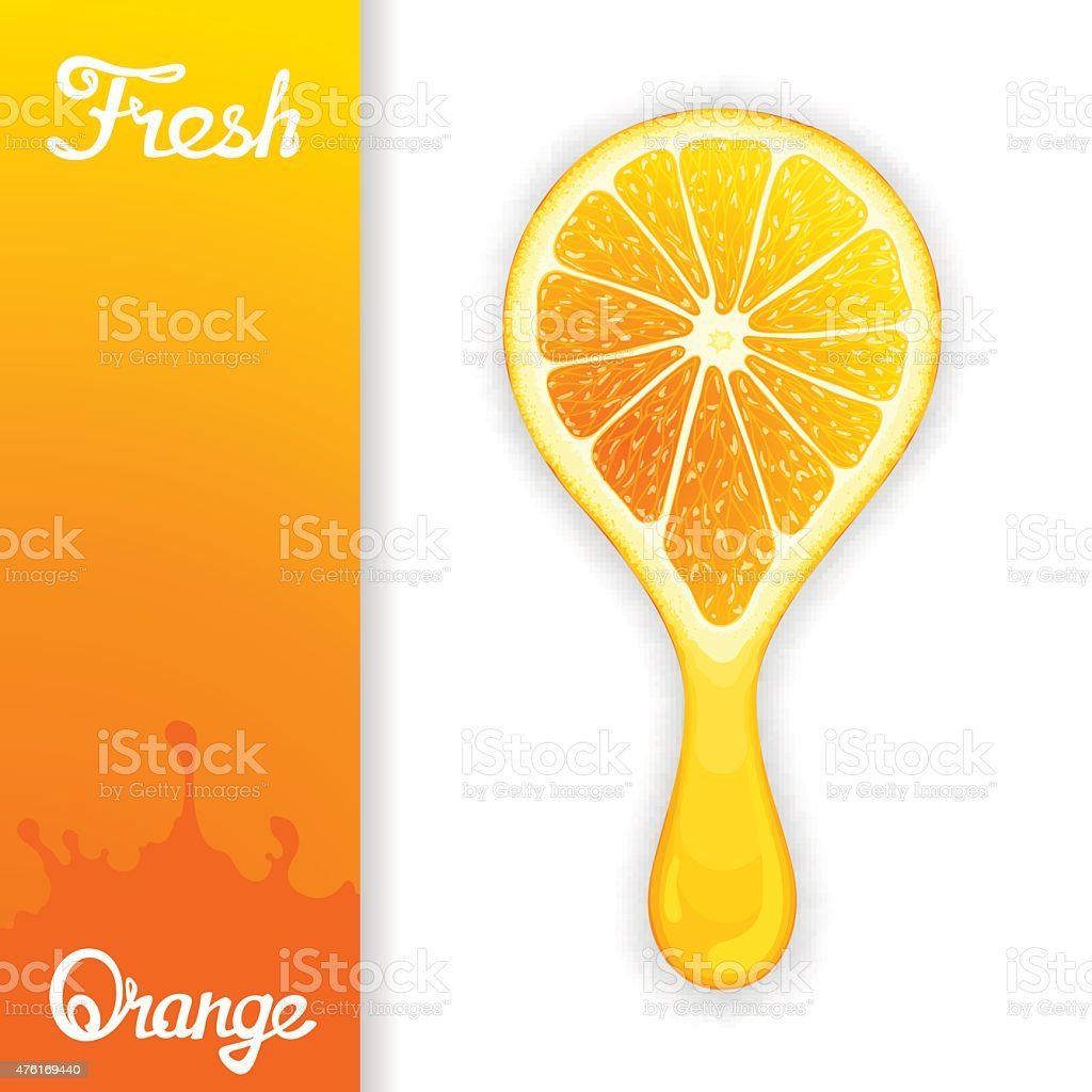 Orange crush juice vector art illustration