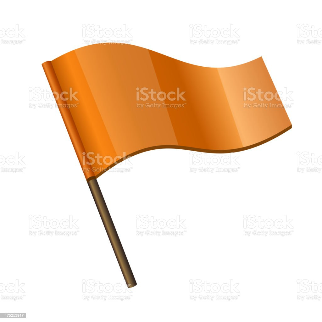 Orange Curl Flag Icon royalty-free stock vector art