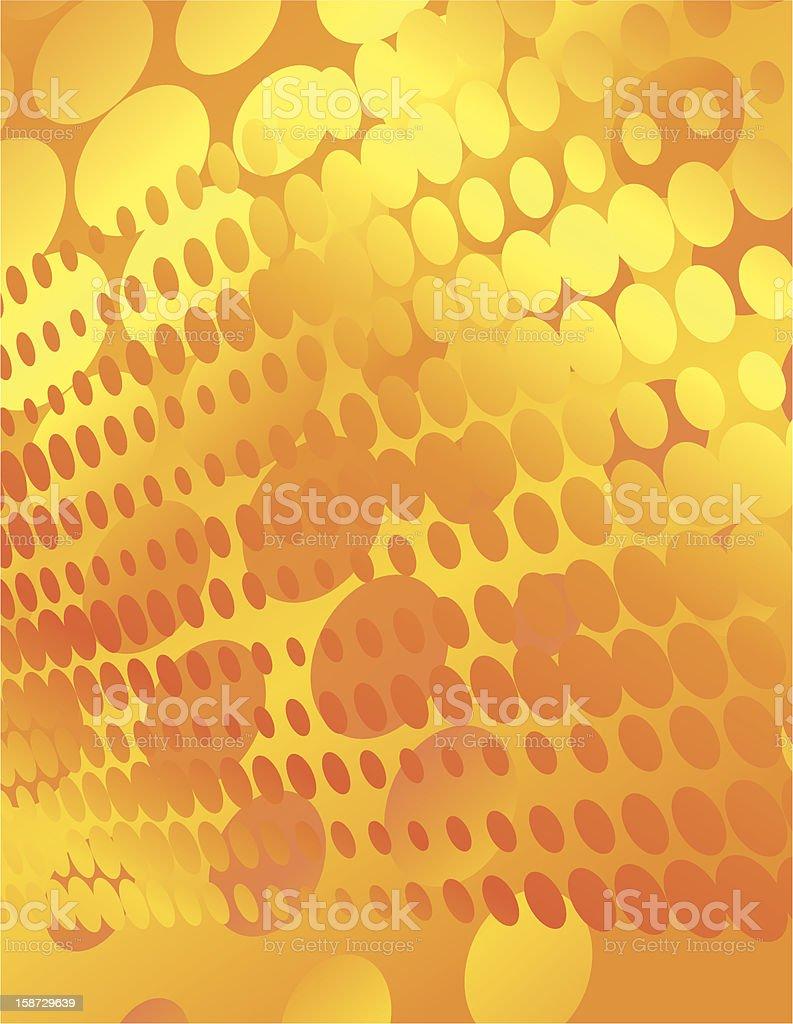 Orange Dots royalty-free stock vector art