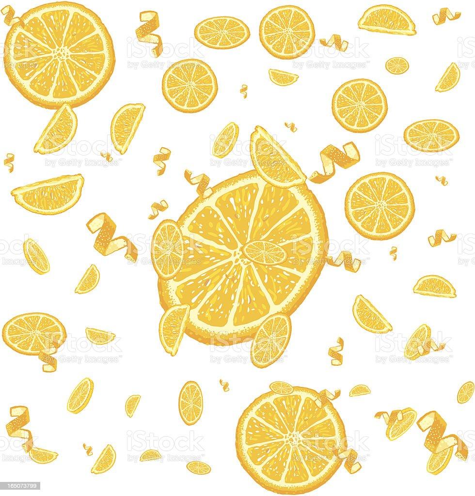 Orange Downpour vector art illustration