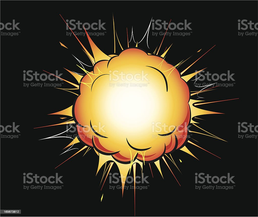 Orange Explosion vector art illustration