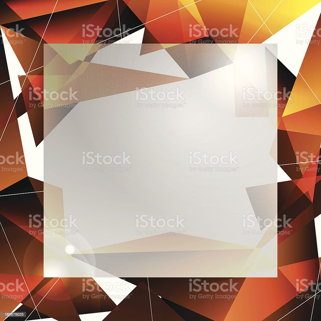 Orange facet abstract background royalty-free stock vector art