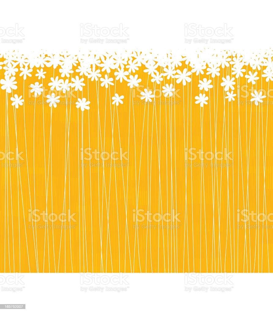 Orange floral background vector art illustration