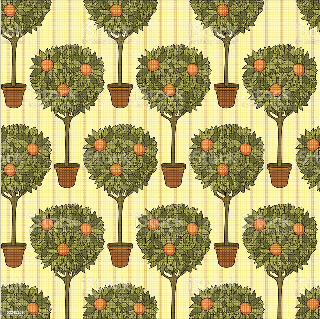 orange garden vector art illustration