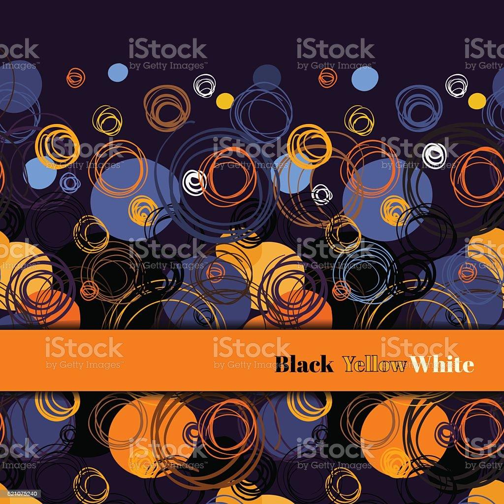 Orange geometric background. vector art illustration