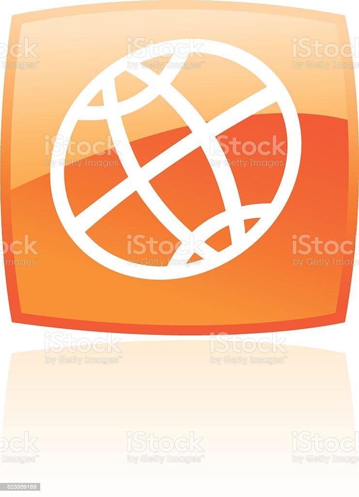 globe Orange stock vecteur libres de droits libre de droits