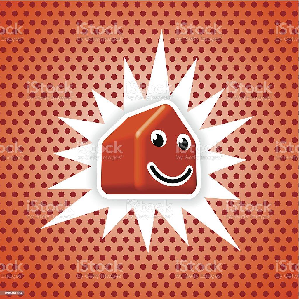 orange house royalty-free stock vector art