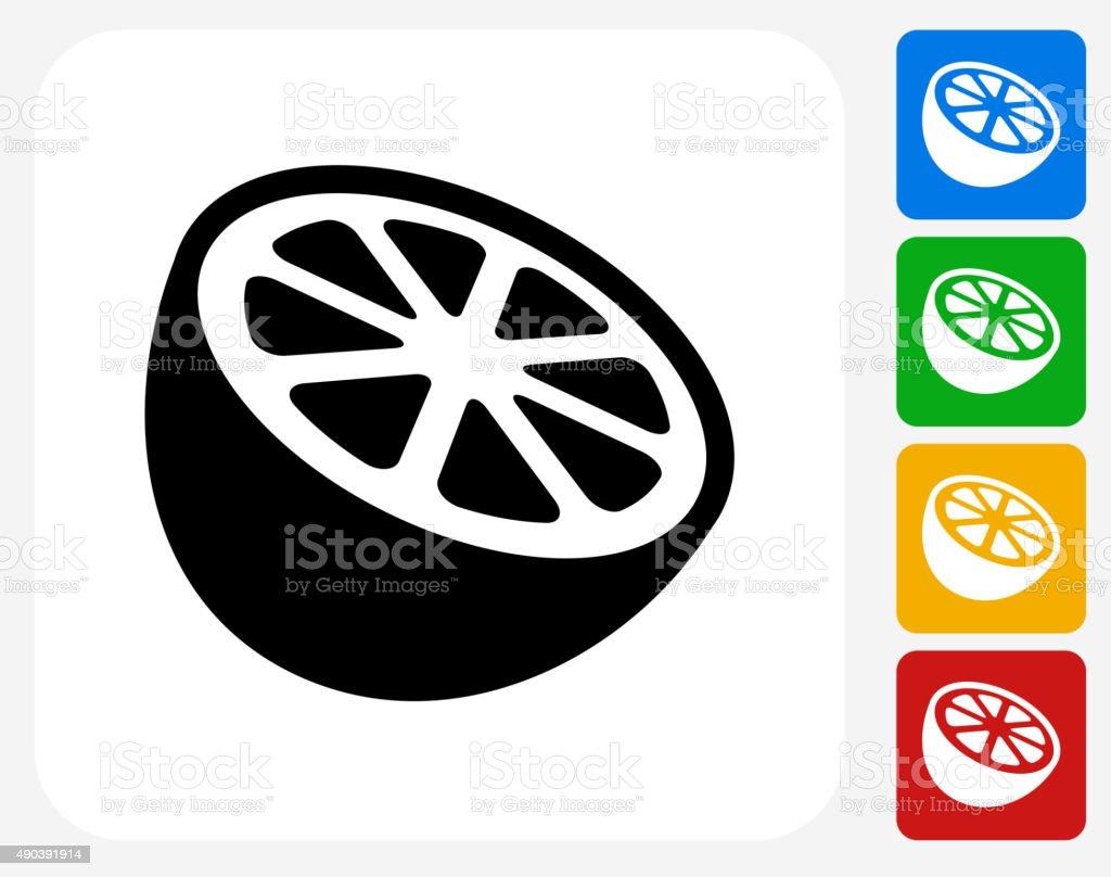 Orange Icon Flat Graphic Design vector art illustration