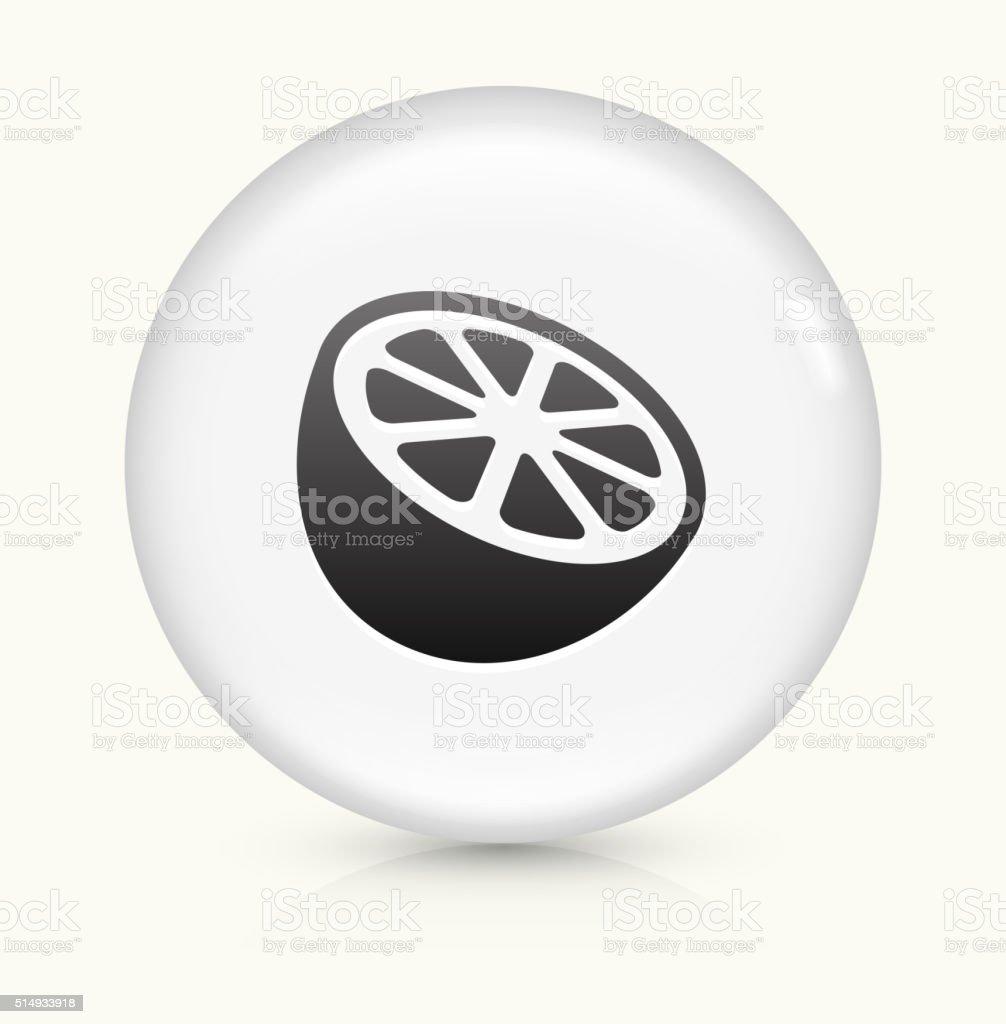 Orange icon on white round vector button vector art illustration