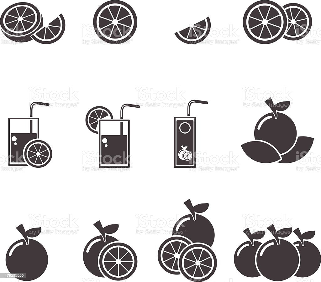 orange  icon vector art illustration