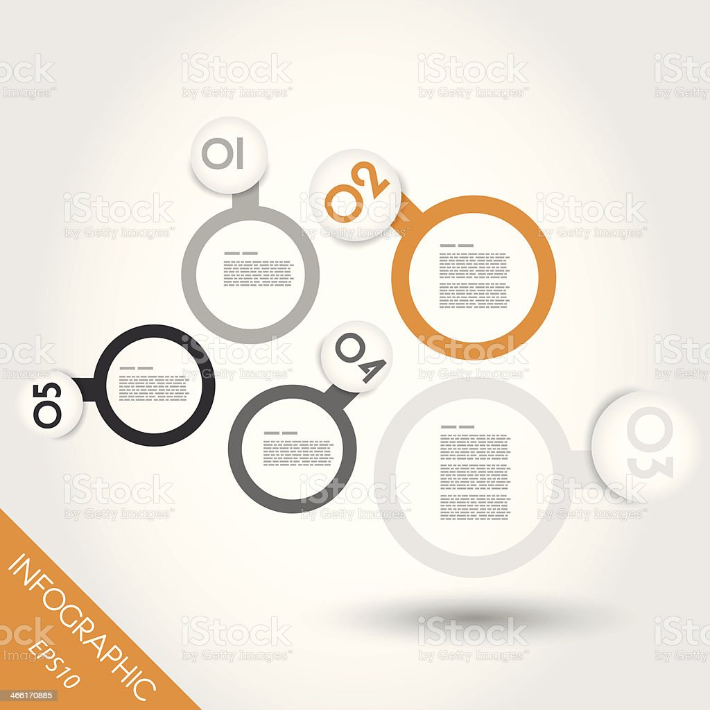 orange infographic balls with rings royalty-free stock vector art
