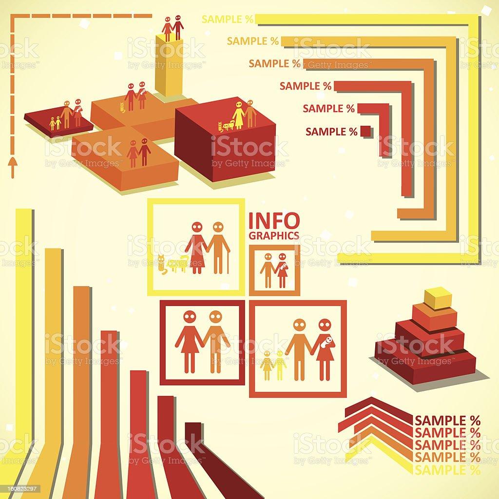 Orange infographics set royalty-free stock vector art