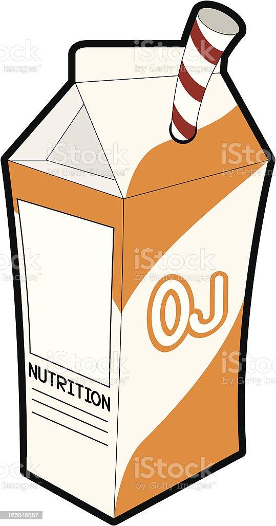 Orange Juice Carton royalty-free stock vector art