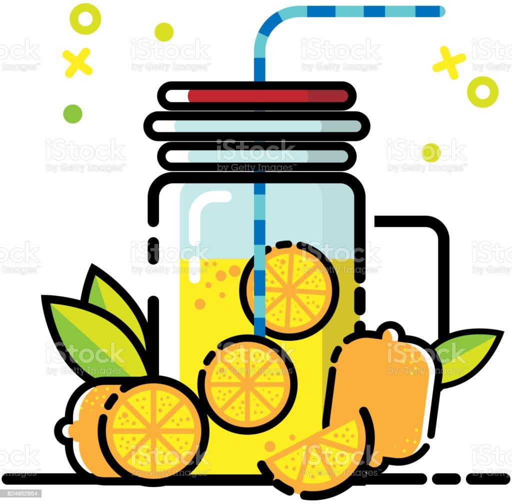 orange juice flat icon vector vector art illustration