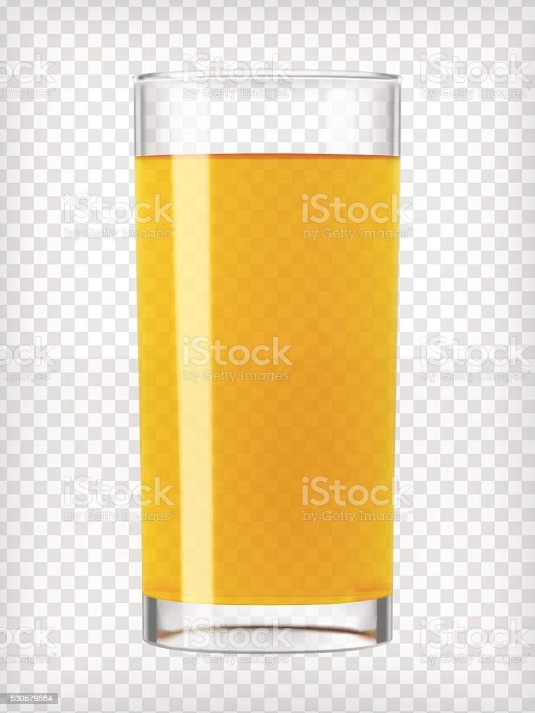 Orange Juice in a Glass vector art illustration