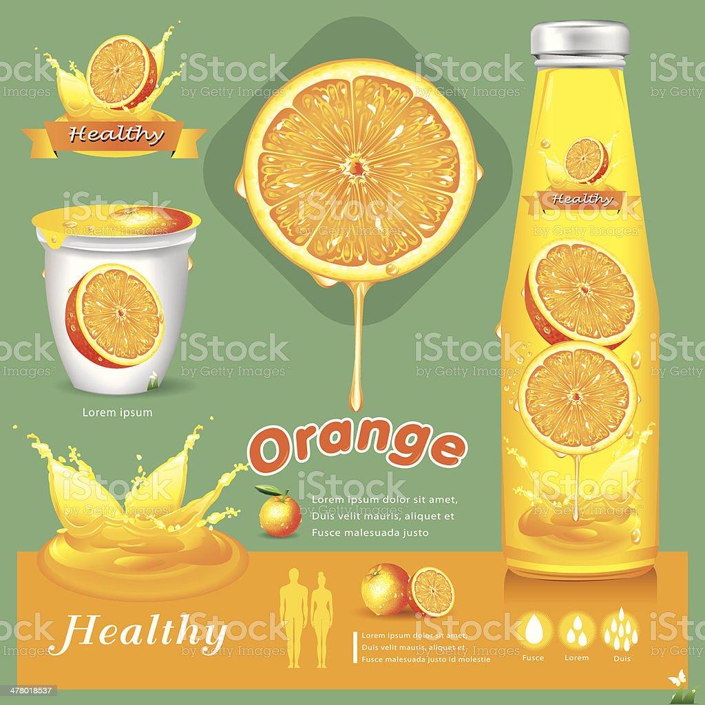 Orange  juice infographics .vector illustration royalty-free stock vector art