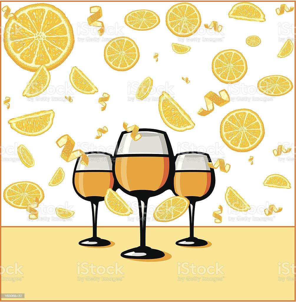 Orange Juice Lover's Heaven royalty-free stock vector art