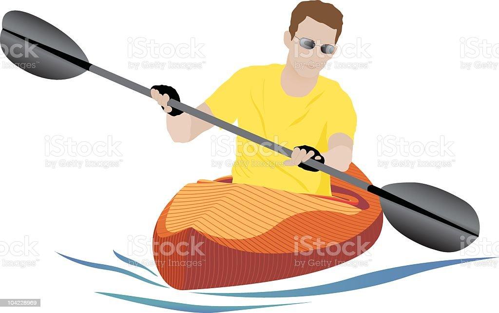 Orange Kayak royalty-free stock vector art