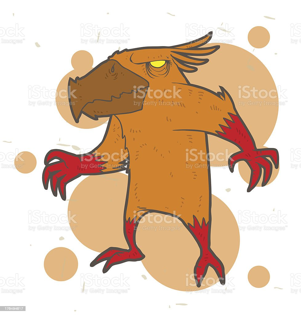 Orange monster mutant royalty-free stock vector art
