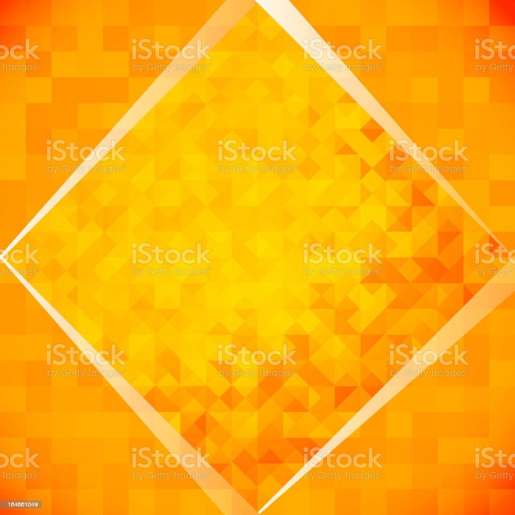 Orange mosaic tiles royalty-free stock vector art