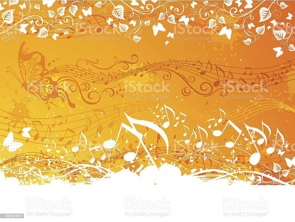 Orange music background royalty-free stock vector art