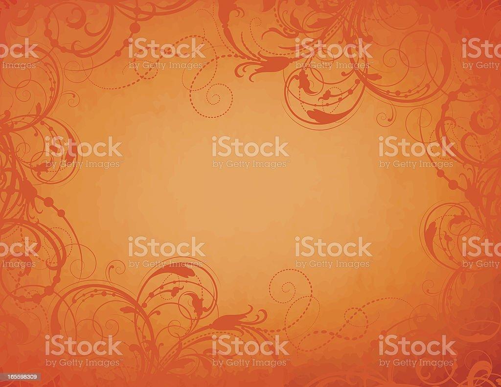 Orange Ornamental royalty-free stock vector art