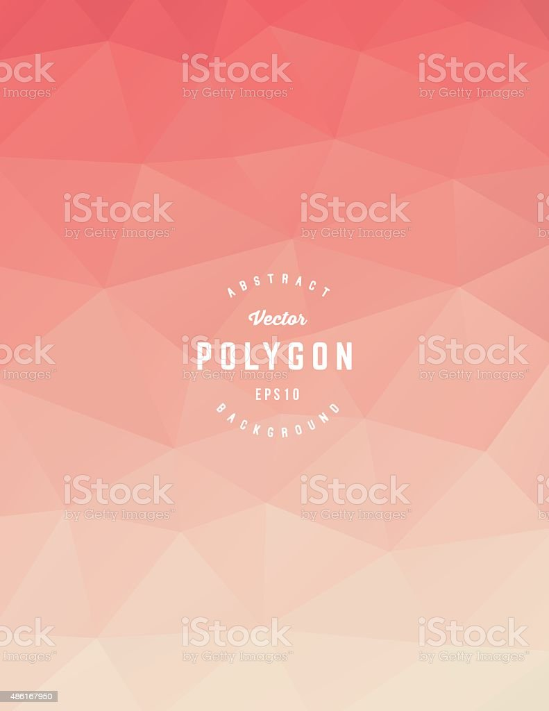 Orange Polygon Background vector art illustration