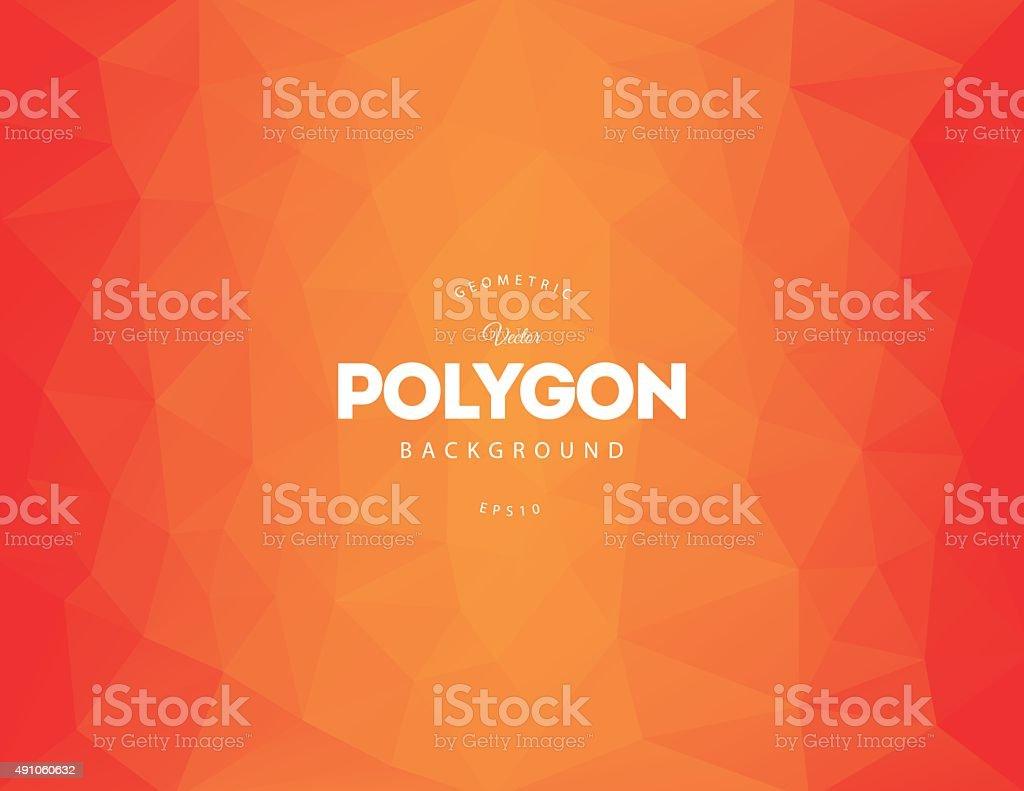 Orange Polygon Background vector art illustration