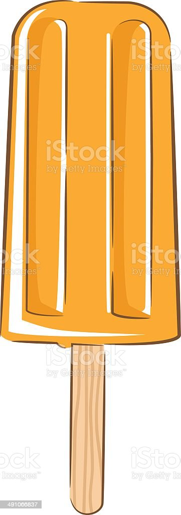 Orange Popsicle royalty-free stock vector art