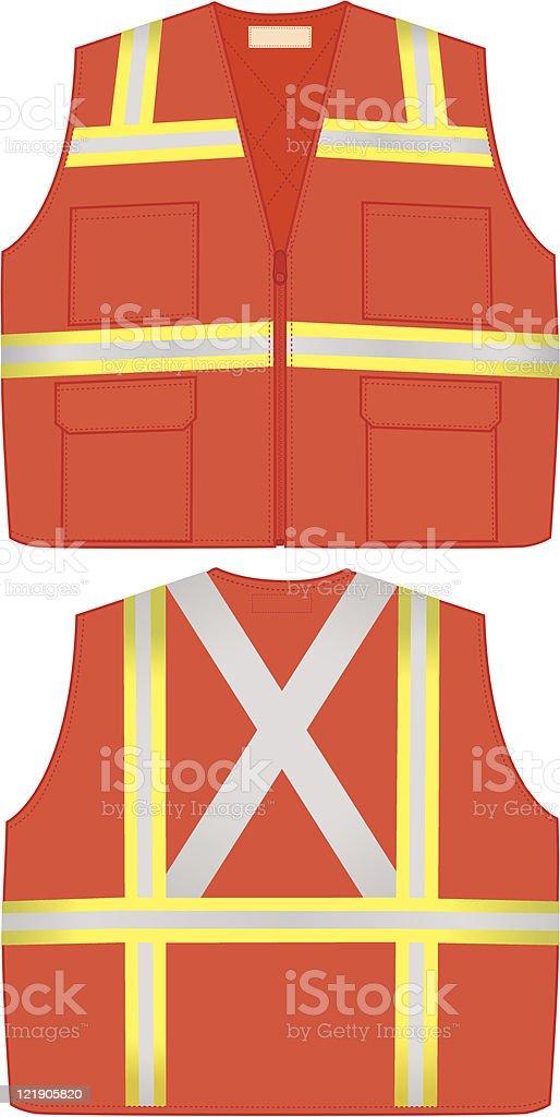 Orange Safety Vest vector art illustration