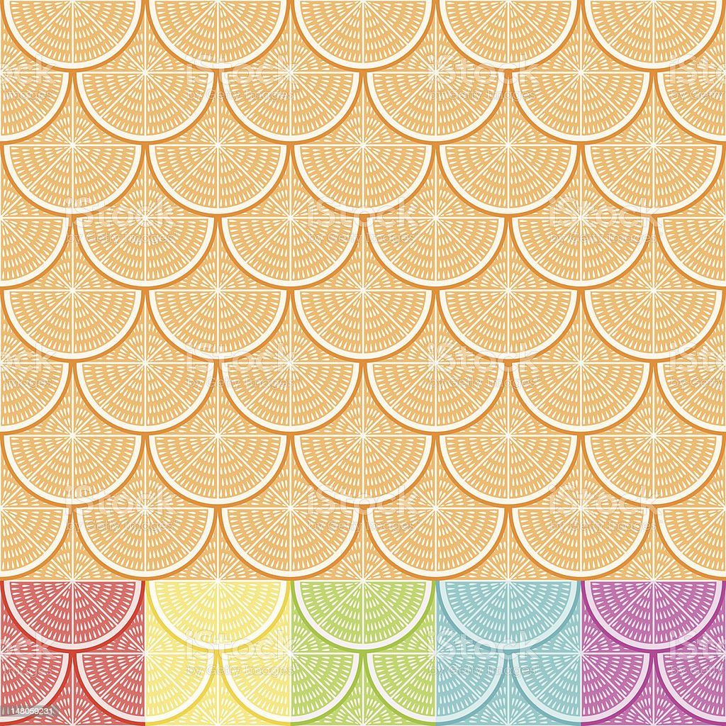Orange Seamless Pattern royalty-free stock vector art