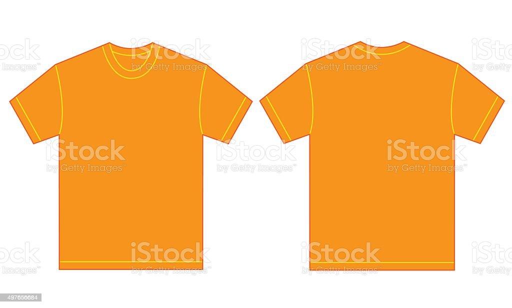 Orange Shirt Design Template For Men vector art illustration