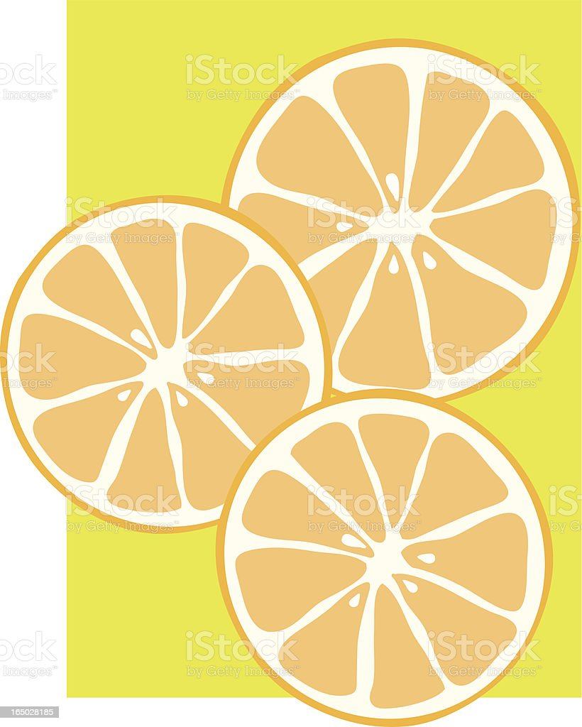 orange slices royalty-free stock vector art