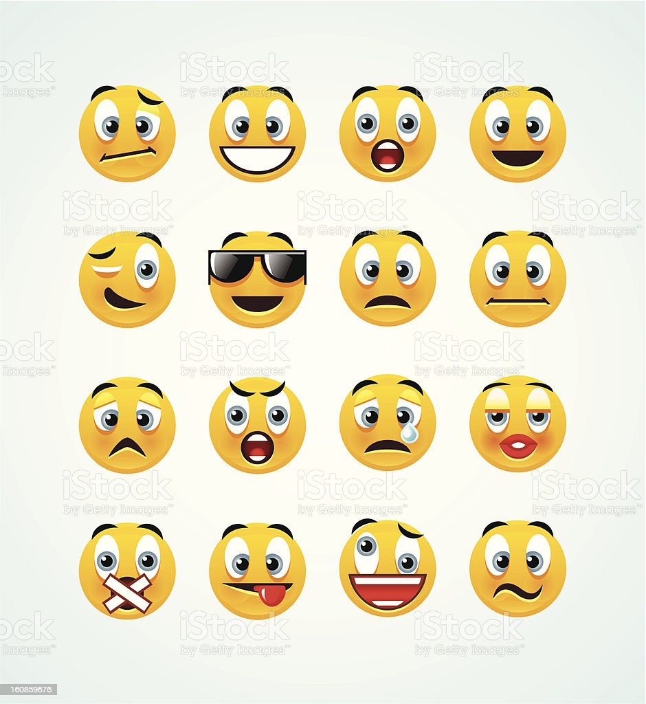 orange smileys vector art illustration