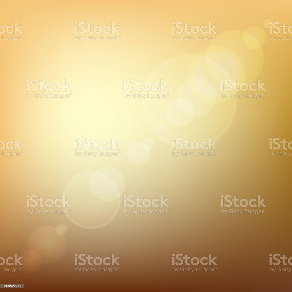 Orange Soft Colored Abstract Background with Lens Flare Light. Vector royalty-free stock vector art