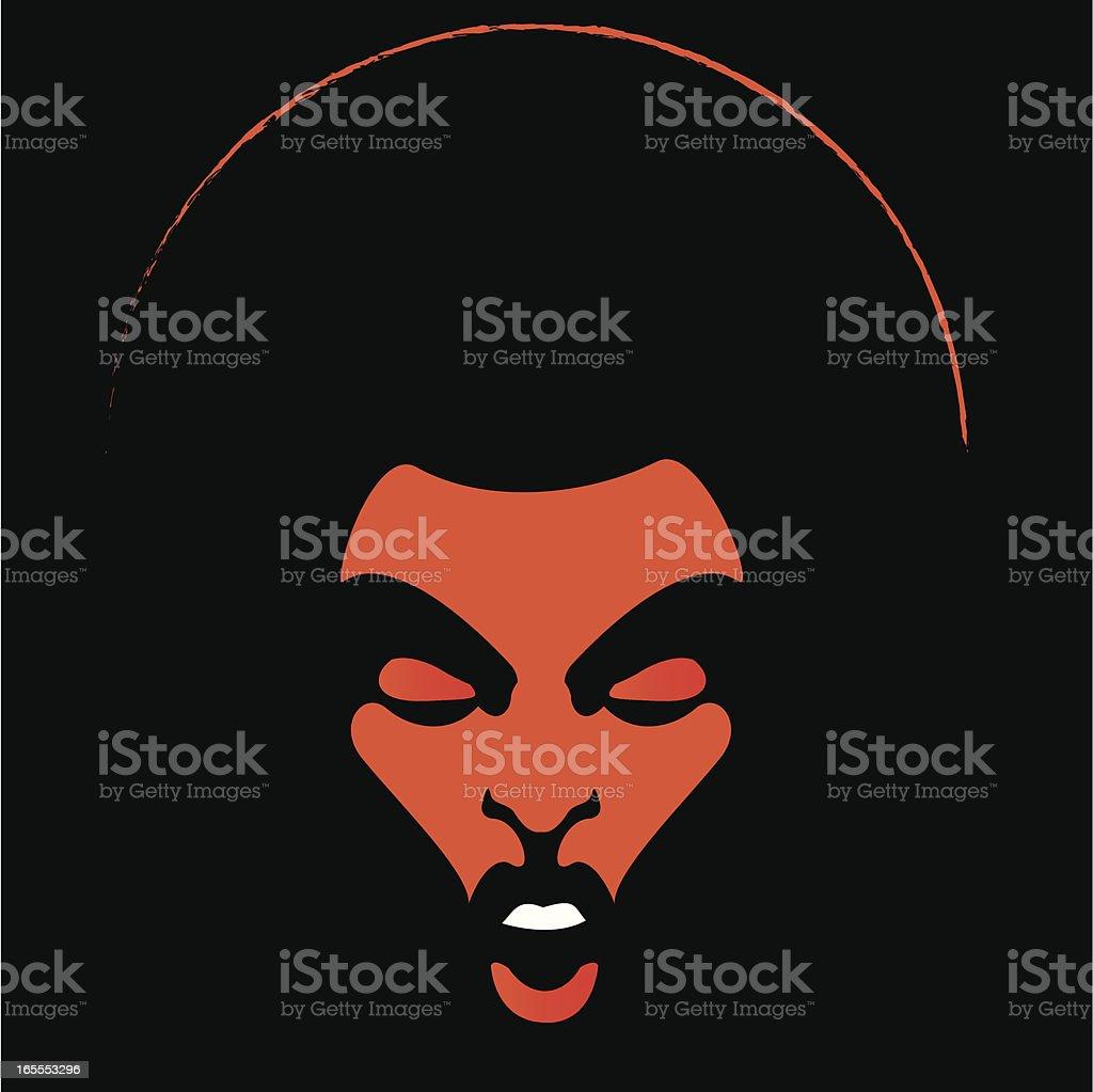 Orange Soul Lady vector art illustration
