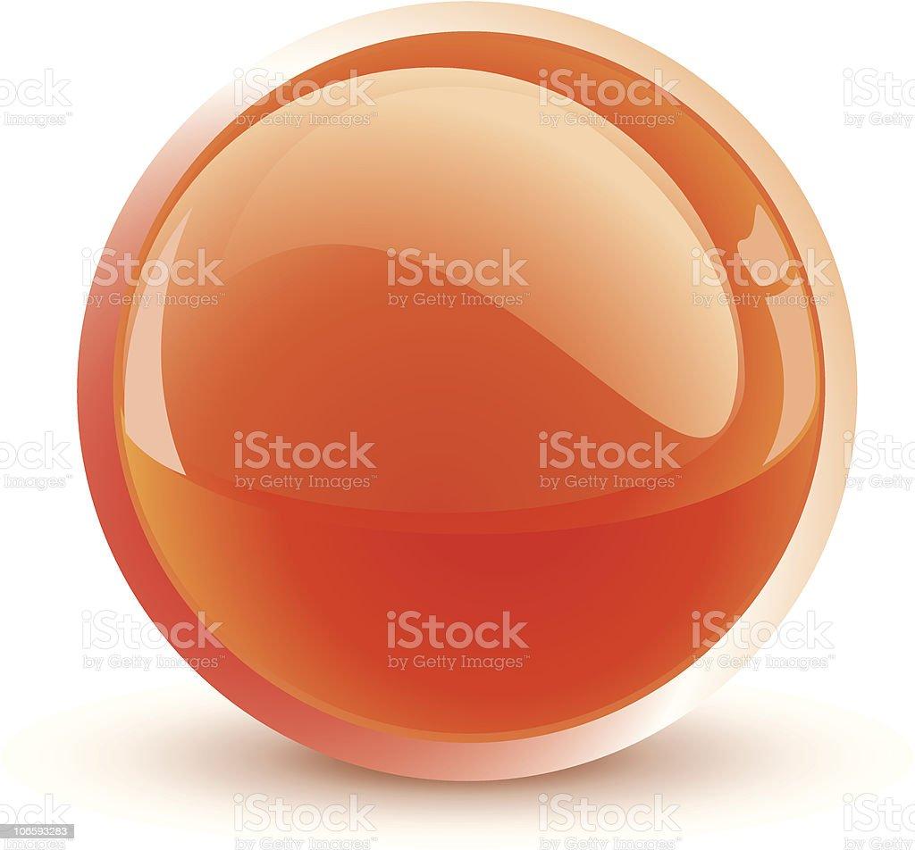 orange sphere vector art illustration