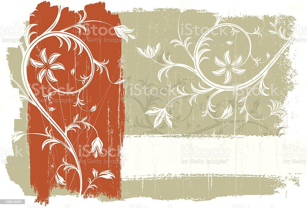 Orange stripe florals royalty-free stock vector art