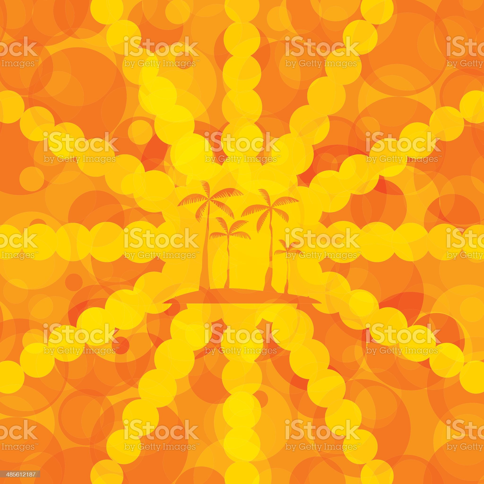 Orange summer background royalty-free stock vector art
