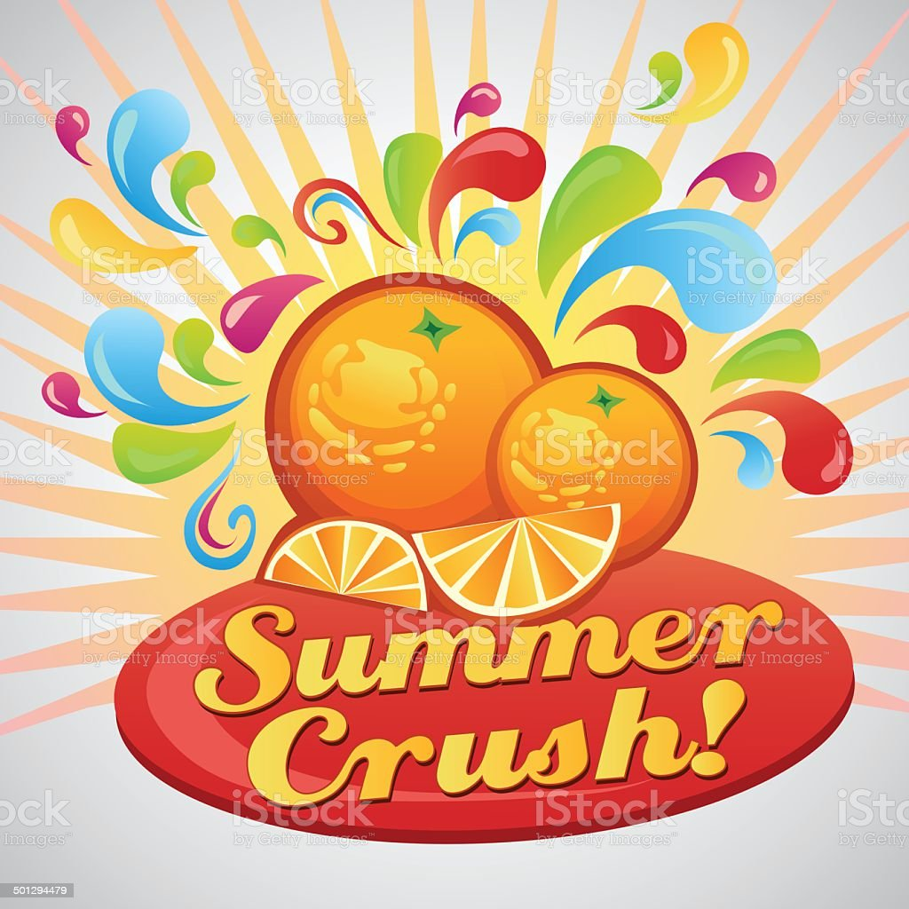 Orange Summer Poster royalty-free stock vector art
