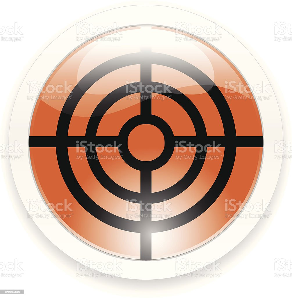 Orange Target Button royalty-free stock vector art