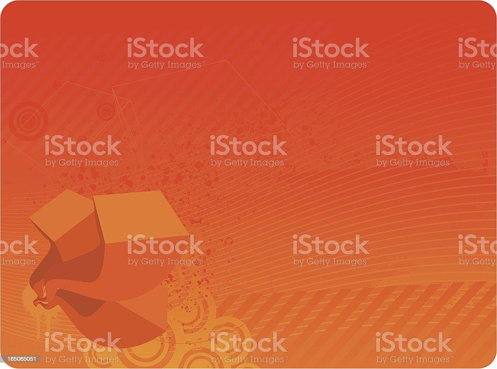 Orange techno background royalty-free stock vector art