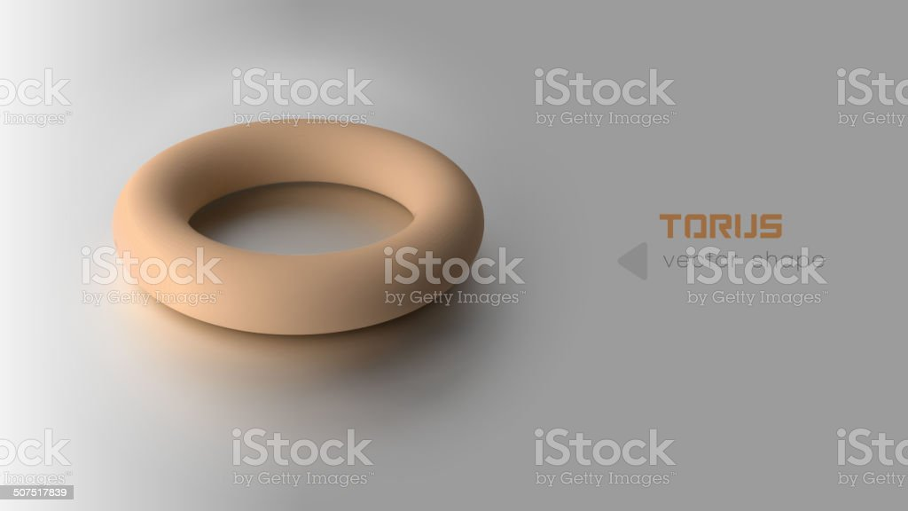 Orange Torus vector art illustration