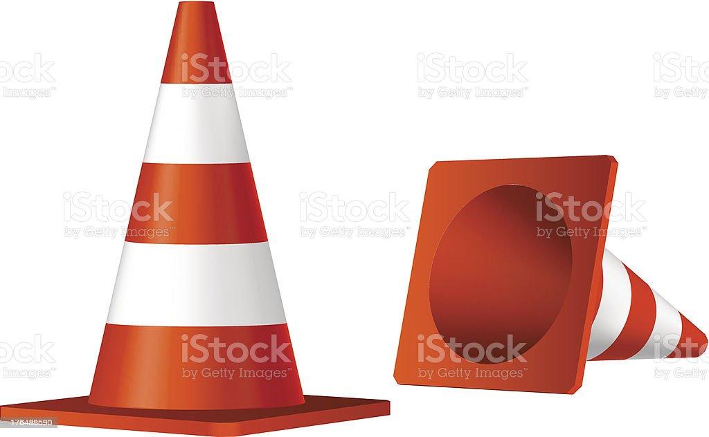cones de trânsito vetor isolado objeto vetor e ilustração royalty-free royalty-free