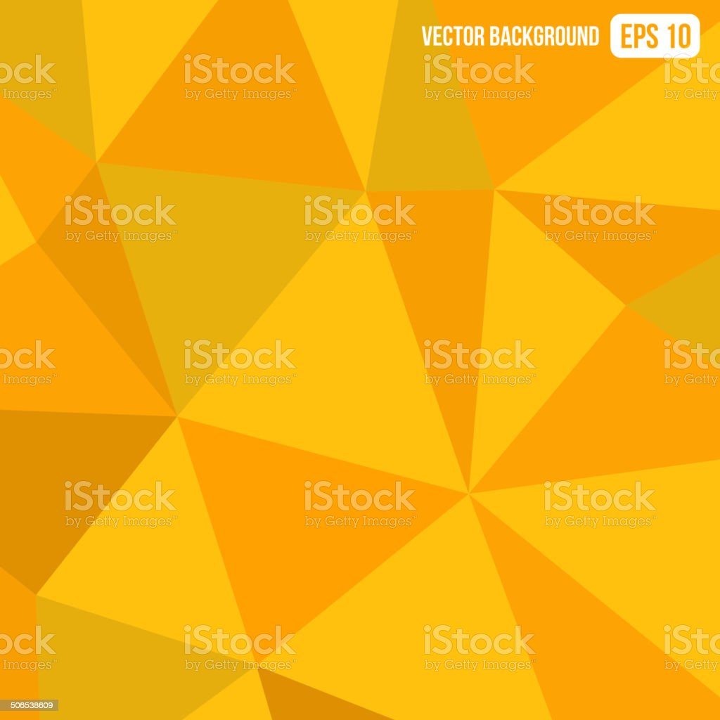 Orange Triangle Geometric Abstract Background. Vector royalty-free stock vector art