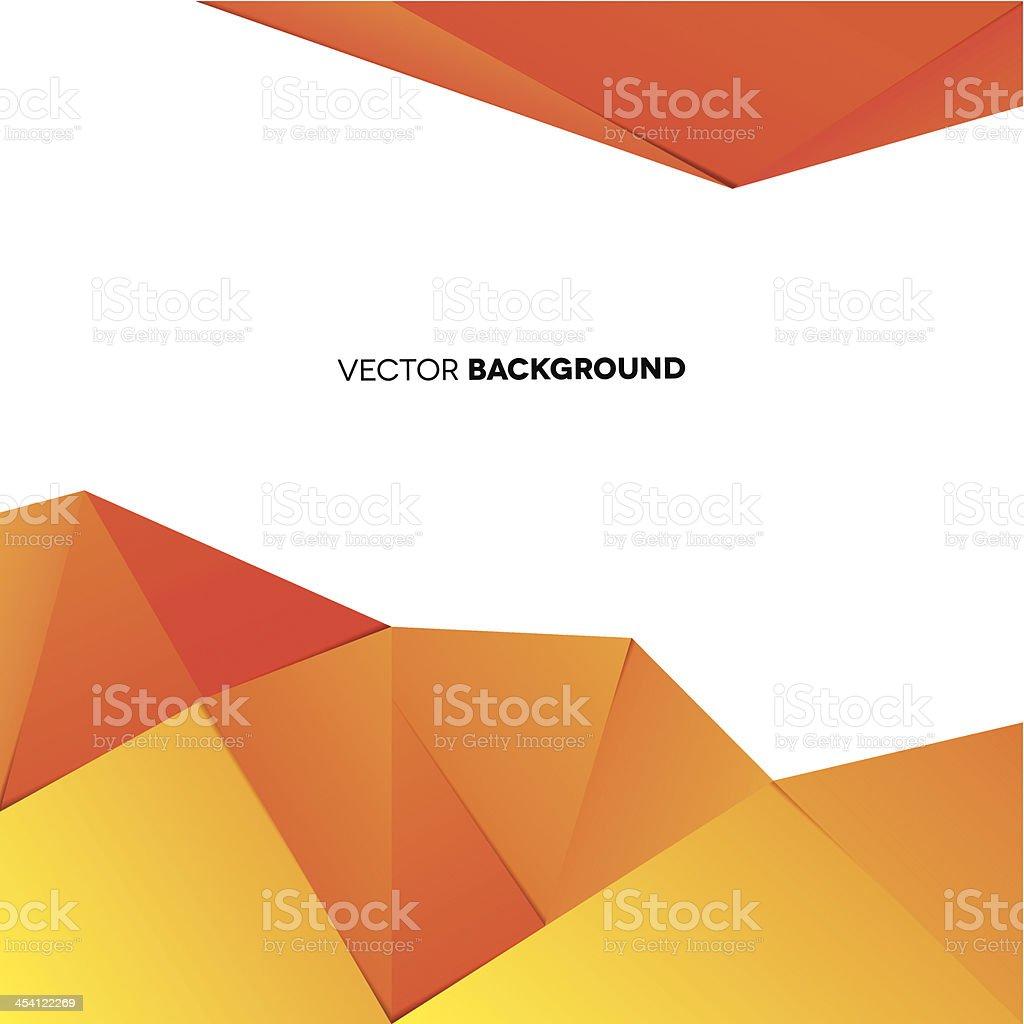 Orange triangle vector background template vector art illustration