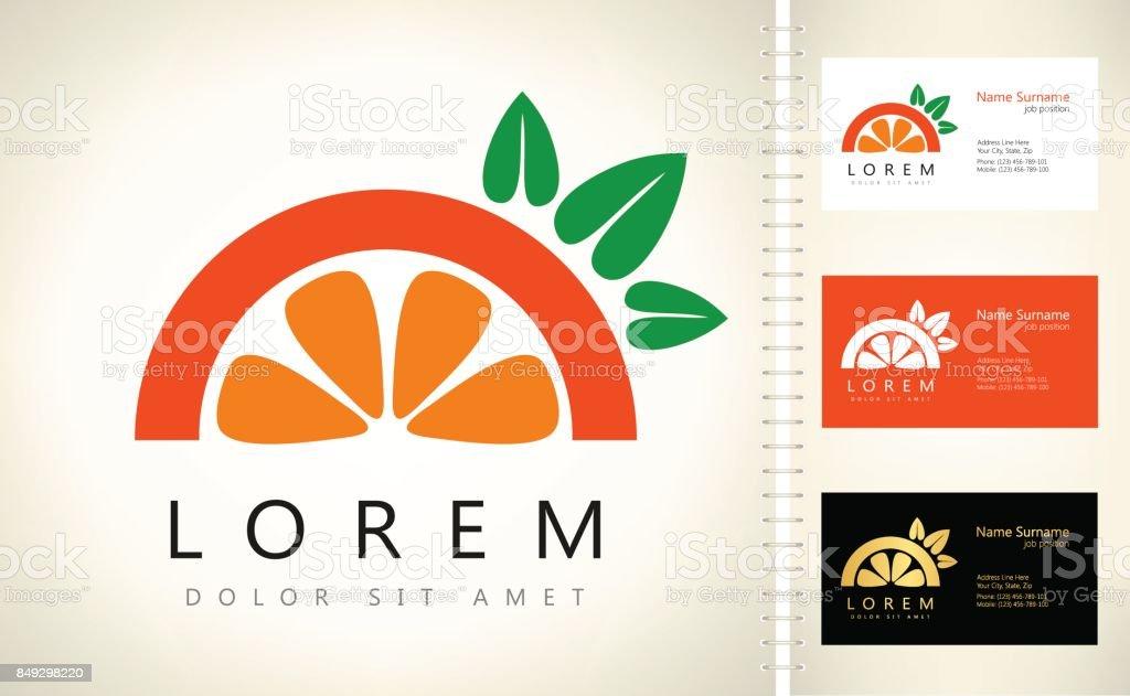 Orange vector. Citrus symbol. vector art illustration