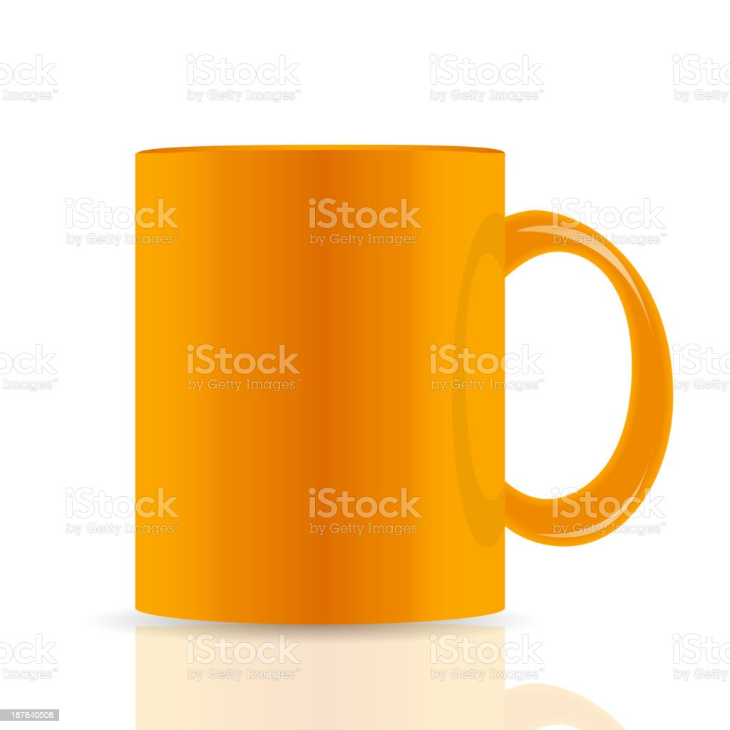 orange vector cup isolated on white background. royalty-free stock vector art